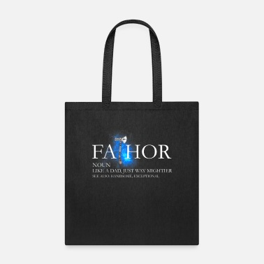 Thor Mens Fa thor Like A Dad Just Way Mightier Father s - Tote Bag