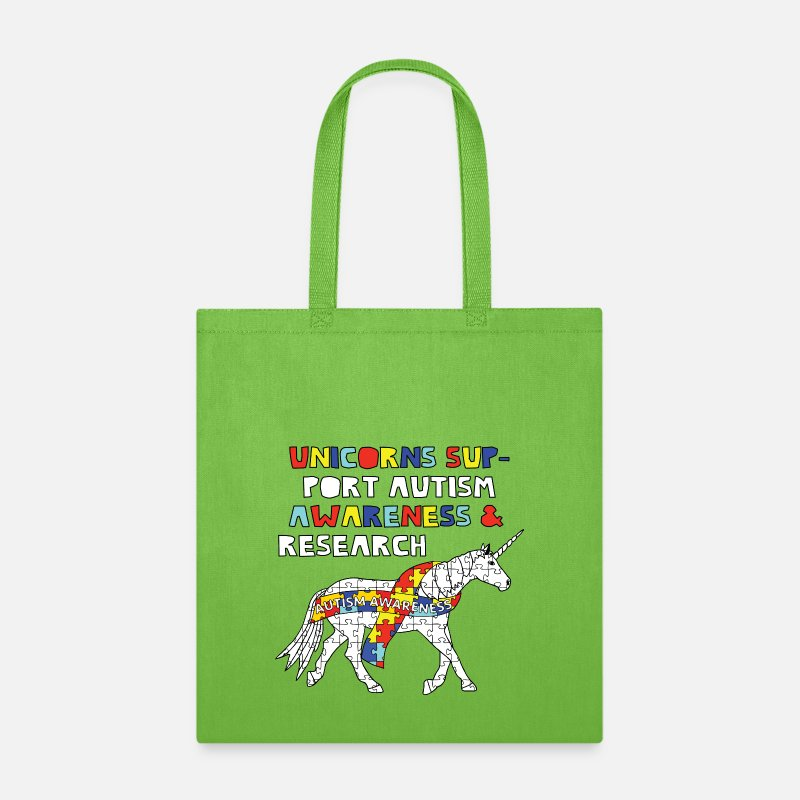 autism support two sided tote teacher gift canvas tote bag unicorn for autism Autism awareness tote bag Mother/'s Day gift