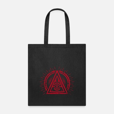 Eye Monitoring Illuminati - All Seeing Eye - Satan / Black Symbol - Tote Bag