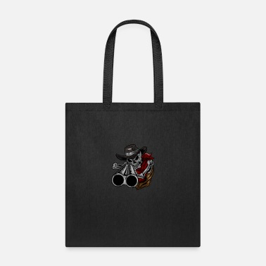 Gun Cowboy Skull Gun Skeleton Bones Face Head Gift - Tote Bag