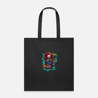 Bandit Pirate Skull Parrot Knife Rover SeaRobber Gift - Tote Bag