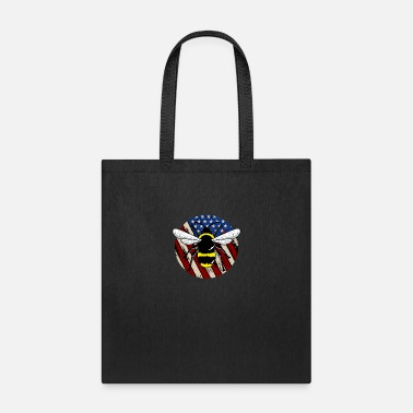 Honeycomb American Flag USA Insect Patriot - Tote Bag