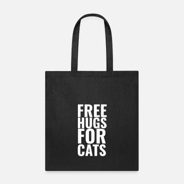 Typography Free hugs for cats T shirt Design Cute cats - Tote Bag