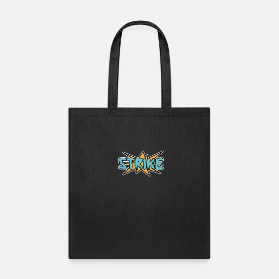Hits Bags & Backpacks - Strike Bowling | Pins Sport Hit Writing - Tote Bag black