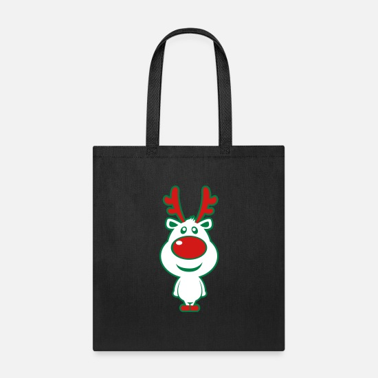 Christmas Bags & Backpacks - Cute Christmas Deer - Tote Bag black