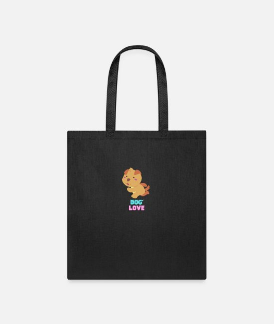 Sweet Dog Bags & Backpacks - Love dogs my family - Tote Bag black