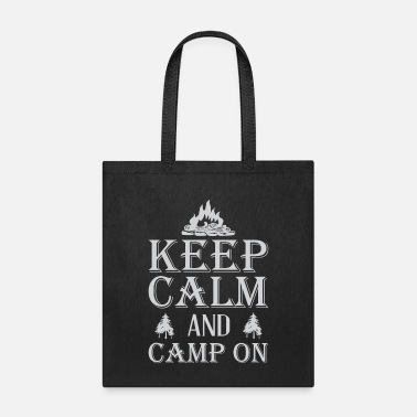Collections Keep calm and camp on - Tote Bag
