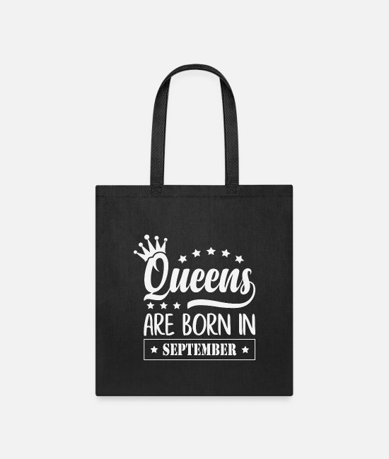 Born To Grill Bags & Backpacks - Queens are born in september - Tote Bag black