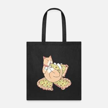 My cat loves pizza - Tote Bag