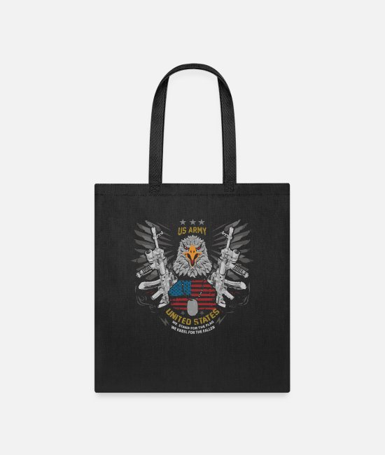 We Stand For The Flag We Kneel For The Fallen Bags & Backpacks - US Army - Tote Bag black