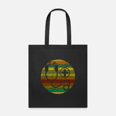 Everyday Life Retro Colored Nursing Illustartion - Tote Bag