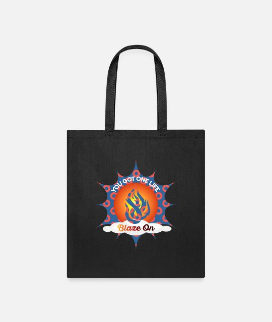 Phish Bags & Backpacks - Phish Fishman Donut Blaze On Phish Apparel - Tote Bag black