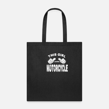 Two Motorcycle Biker girl woman - Tote Bag