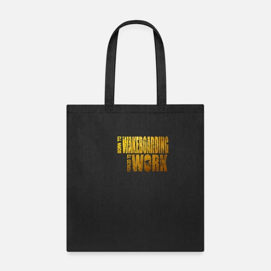 Summer Bags & Backpacks - Wakeboarding summer sport gift - Tote Bag black