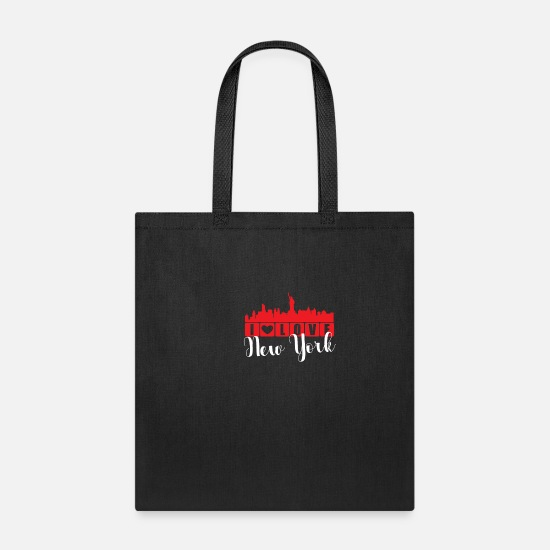 York Bags & Backpacks - I Love New York Skyline NYC Big Apple Gift - Tote Bag black