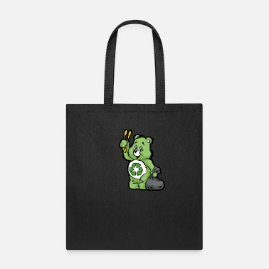 Enviromental TEDDY BEAR RECYCLE RECYCLING TRASH ENVIROMENTAL - Tote Bag