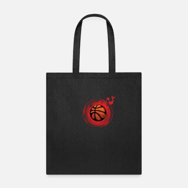 Blaze Fire Red Aura Blood Comic Basketball Gift - Tote Bag