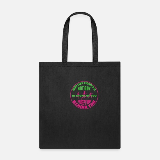 Funny Bags & Backpacks - race woman funny pretty scary horror gift - Tote Bag black