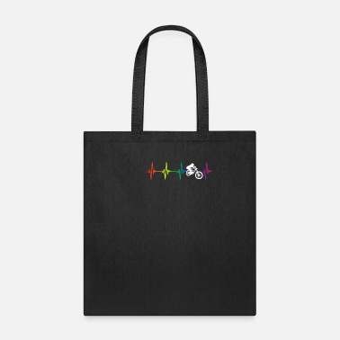 Rampage Downhill Rainbow Heartbeat - Tote Bag