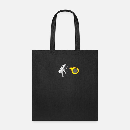 Earth Bags & Backpacks - astronomy Astronaut Throwing Gift - Tote Bag black