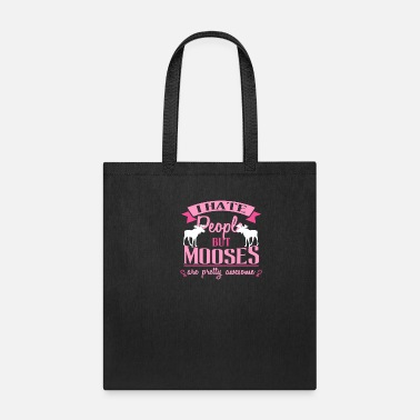 Alce Funny Moose Tee For Girls And Women Who Love Moos - Tote Bag