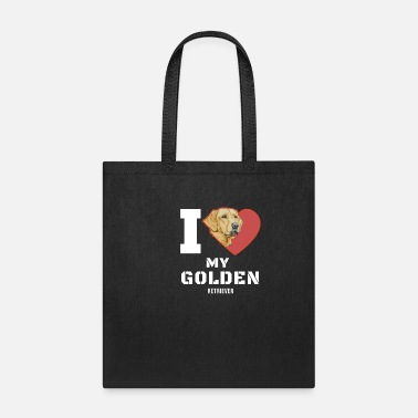 Easter Bunny I love my Goldenretriever - Tote Bag