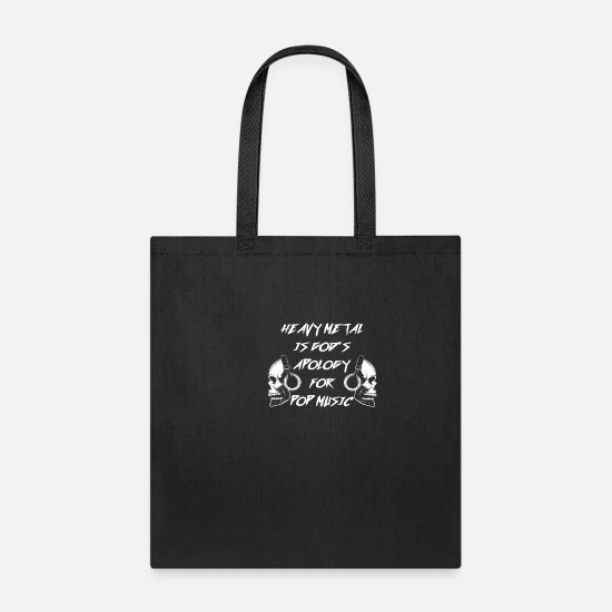 Son Bags & Backpacks - Heavy Metal Rock Death Skeleton God Headset Gift - Tote Bag black