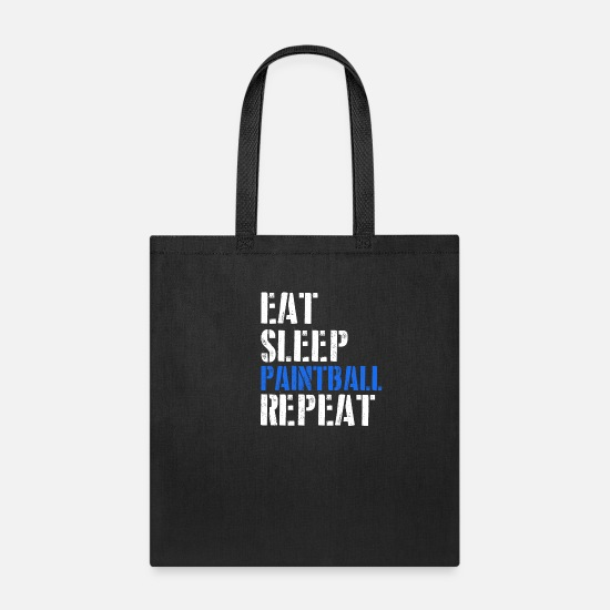 Paintball Bags & Backpacks - Eat. Sleep. Paintball. Repeat. - Tote Bag black