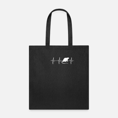 Rescue Rodent Heartbeat T Shirt - Tote Bag