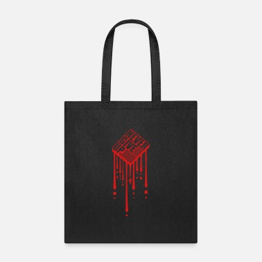 Stamp blood drop graffiti logo stamp 3d stripe design ne - Tote Bag