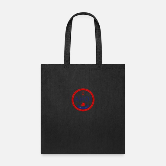 Gift Idea Bags & Backpacks - Ahoy Anchor Rope Sailor - Tote Bag black