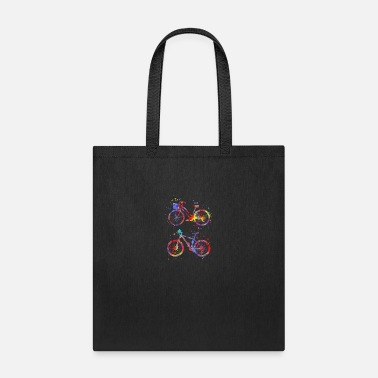 Bicycling Bicycles, watercolor bicycles - Tote Bag