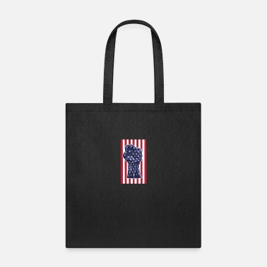 4th Of July American Fist Flag Stars and Stripes - Tote Bag