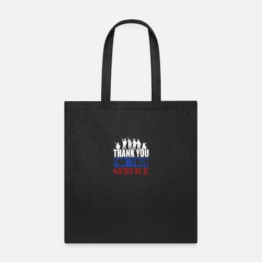 Support The Troops Thank You For Your Service - Tote Bag