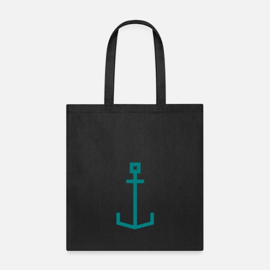 Anchor Bags & Backpacks - Square anchor - Tote Bag black