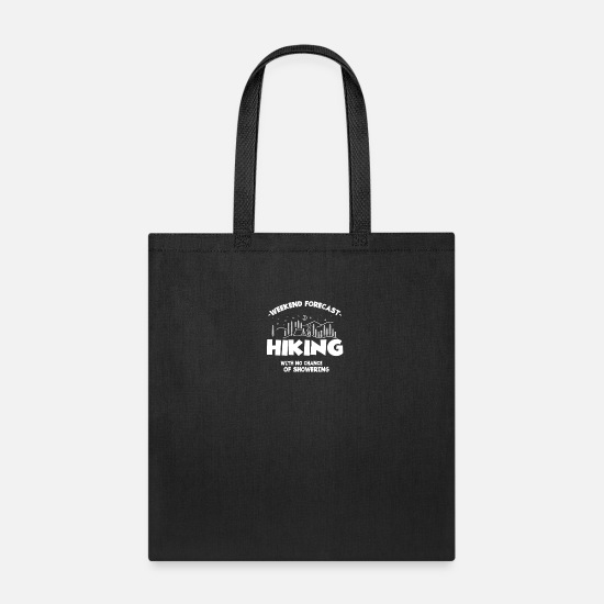 Funny Bags & Backpacks - No Shower - climbing, bouldering, mountaineering - Tote Bag black