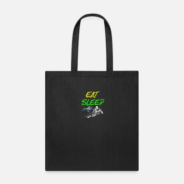 Jumping Girl Eat sleep ski - winter, gift, skiing - Tote Bag