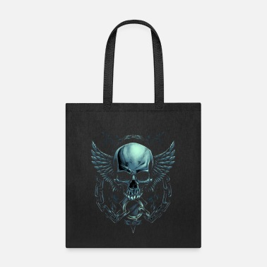 skull with wings - Tote Bag