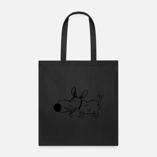 Dog Owner Bags & Backpacks - tired dog - Tote Bag black