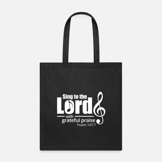 The Office Bags & Backpacks - Sing to the Lord - White - Tote Bag black