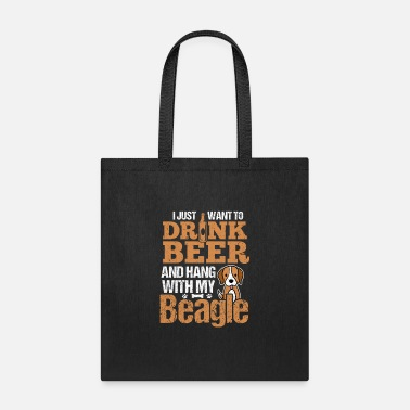 Rescue Dog I Just Want To Drink Beer And Hang With My Beagle - Tote Bag