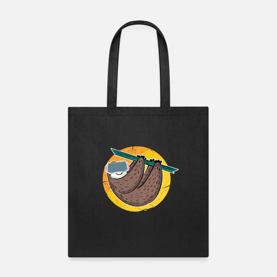 Reality Bags & Backpacks - Virtual Reality Sloth - Tote Bag black