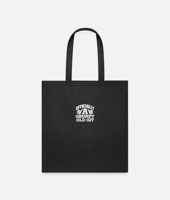 Old Fashioned Bags & Backpacks - Officially A Grumpy Old Git - Tote Bag black