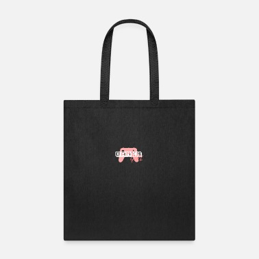 Pixel Pink and White Gamer Girl - Tote Bag