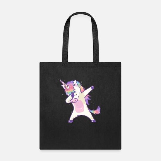 Unicorn Bags & Backpacks - Dabbing Unicorn Dab Hip Hop Magic Girl Clothes - Tote Bag black