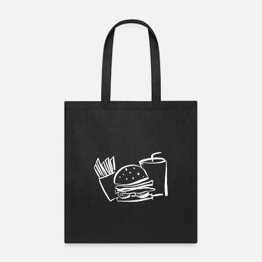 Tasty burger white hamburger hunger beef salad fast food - Tote Bag