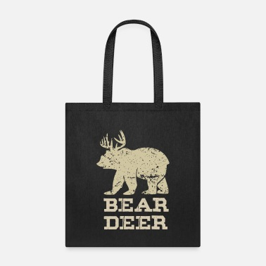 Duck Bear Deer Funny Beer Retro Vintage - Tote Bag