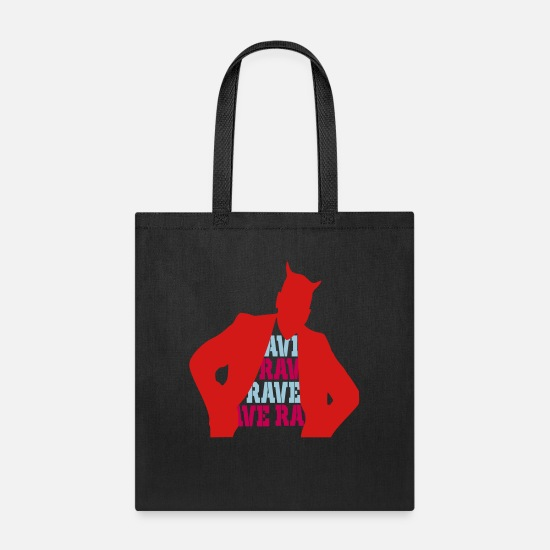 Raven Bags & Backpacks - rave - Tote Bag black