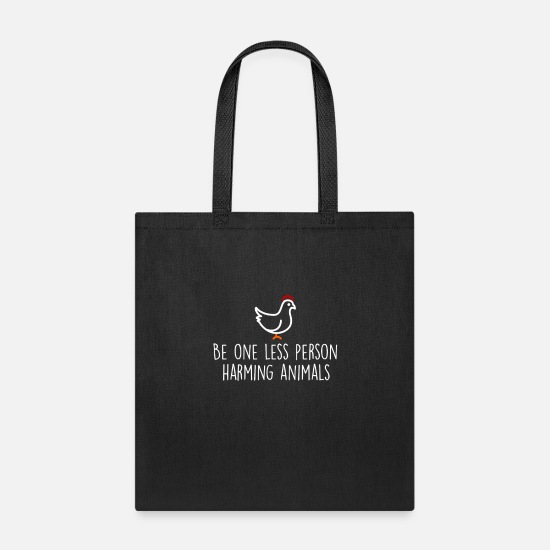 Vegan Bags & Backpacks - VeganVegan Vegan Vegan Vegan Vegan Vegan - Tote Bag black
