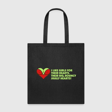 I Love Women For Their Hearts - Tote Bag